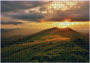 Zachód słońca nad Połonina Wetlińską - puzzle